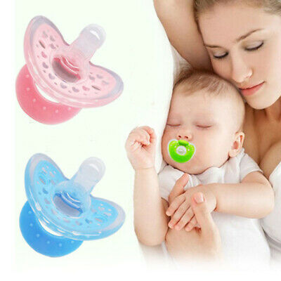 Newborn Infant Baby Orthodontic Dummy Pacifier Silicone Teat Nipple Soothers UK