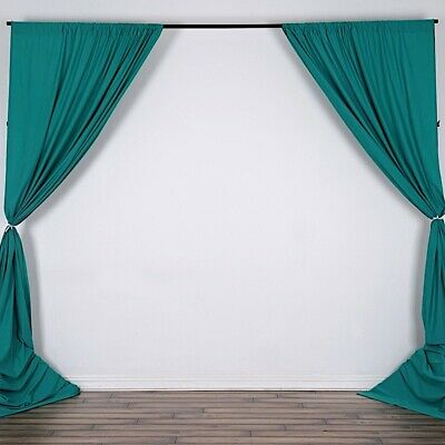 TURQUOISE 10 x 10 ft Polyester BACKDROP CURTAINS Drapes Panels Home Decorations