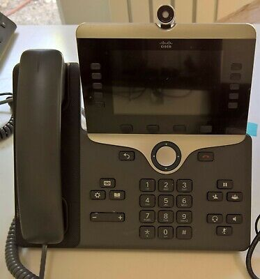 1 x Cisco CP-8845-K9 V08 high end IP Phone with camera VGC inc. VAT