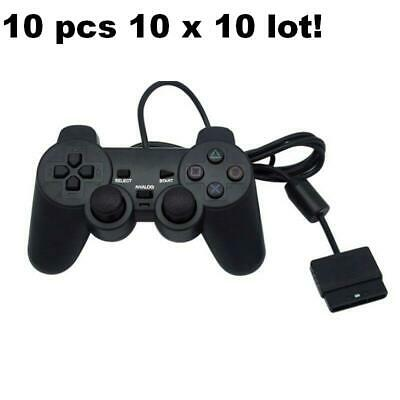 10 LOT X FOR PlayStation 2 Double Shock Wired Controller Joypad Game pad ps2