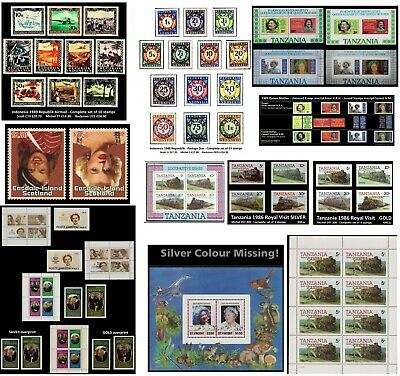 Zillions of Stamps SALE-FREE SHIPPING-200 stamps 10 Souvenir sheet-Old Stock