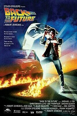 Back to the Future Movie Poster Michael J. Fox 24 x 36 New