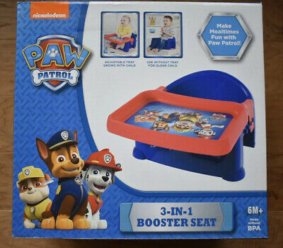 Nickelodeon Paw Patrol 3-in-1 Booster Seat - Brand New