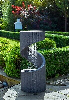 Outdoor Spiral Water Feature Granite H82cm