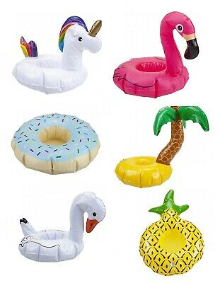 Inflatable Cup Holder Drink Floating Beach Pool Party Swimming Hot Tub Doll Ring