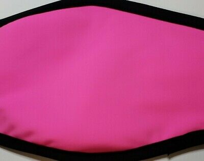 "SOFT Face Nose Mouth Mask Cover Adult Reusable Breathable Unisex ""NEON PINK"""