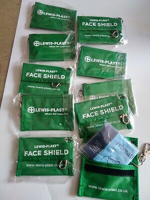 Key rings x10 as pictures show with the mouth to mouth guard first-aid supplies