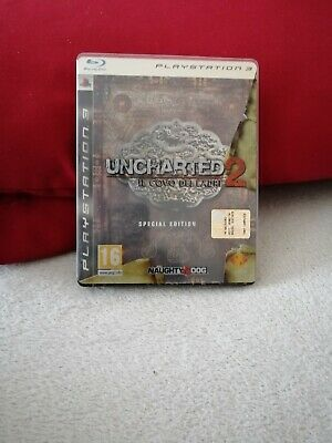Steelbook Uncharted 2 Il Covo Dei Ladri PS3, NO DISCO