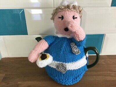 Hand Knitted Nurse with Bedpan! Teapot Cosy. Great  Gift