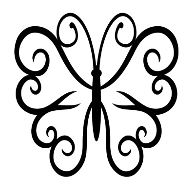 Butterfly Hearts Vinyl Decal Sticker For Home Cup Mug Glass Wall Decor Choice