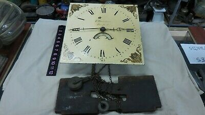 Vintage  R. Honeybone-Fairford  Grandfather Clock Dial And Movement For Parts