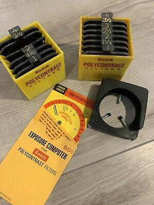 Kodak Polycontrast Filter Kit Model A & Filter Computer Wheel Free Shipping