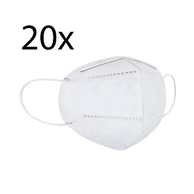One Size KN95 Face Mask, Protective Mask Against Dust, Bacteria, Pack of 20
