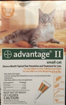 Bayer Advantage II Flea Treatment for Small Cats 5 - 9 lb 4pack