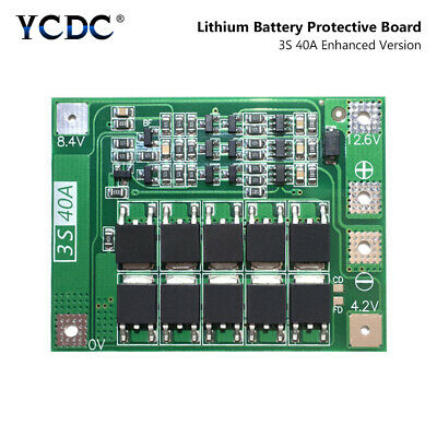 3S 40A Enhanced 18650 Charger Lithium Battery PCB BMS Protection Board Module 8