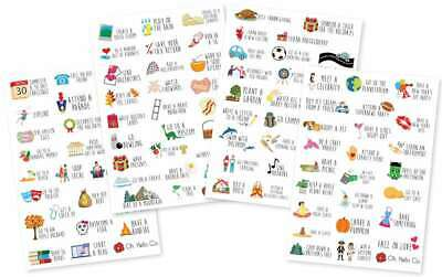 Oh Hello Planner Stickers 4 Sheets Bucket List 738607815894