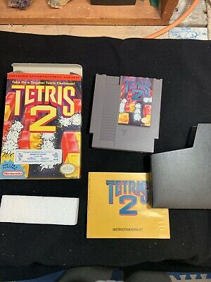 Tetris 2 (Nintendo Entertainment System, 1993) Tested Works Well