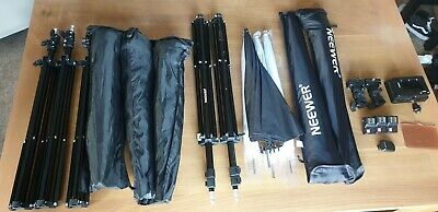 Photography HOME STUDIO BUNDLE - Umbrella's, Softboxes, Video Lights, Stand Acc