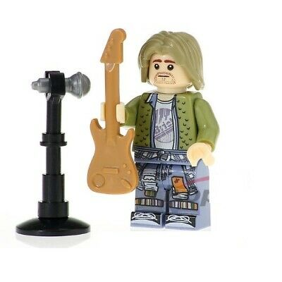 G3 - Kurt Cobain Nirvana Band - Nuovo in Blister - Minifigures Custom Simil LEGO