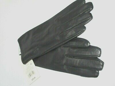 A New Day Genuine Leather Size Small Womens Black Gloves