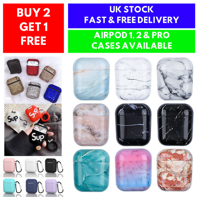 For Apple AirPods 1 2 Case Marble Cover Protective AirPod Earphone Headset Skin