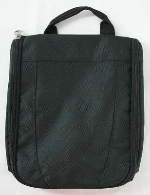 Hanging Travel Toiletry Kit Shave Case Bag Black zippered Pouches Canvas