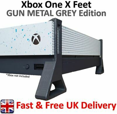Xbox One X Feet / Cooling Stand 'GUN METAL GREY Edition' (Pack of 4)