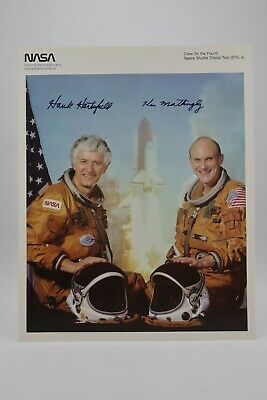 STS-4 Official NASA 8x10 Autopen Signed by Ken Mattingly, Henry Hartsfield