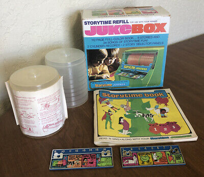 Vintage 1972 Storytime Jukebox Refill Kenner 112 Pg Book Cylinders Panels & Box