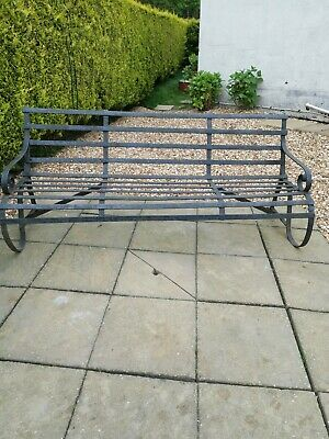Iron Pre War Solid Bench and a Original Pair of Solid Iron wheels