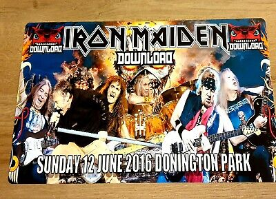 Iron Maiden-Download Festival-Donington Park 2016 12X8 Metal Sign