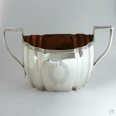 Georgian Style GEORGE V STERLING SILVER SUGAR BOWL Birmingham 1912 Elkington Co