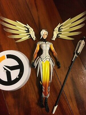 Anime Game OW Overwatch Mercy Cosplay Wig 1 Clip on Ponytail