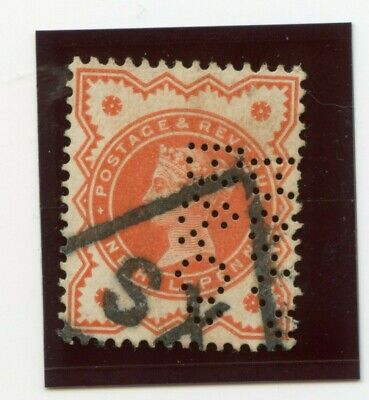 Great Britain - Victoria Stamps 1887 one half penny orange  SG197 - Lot #1823