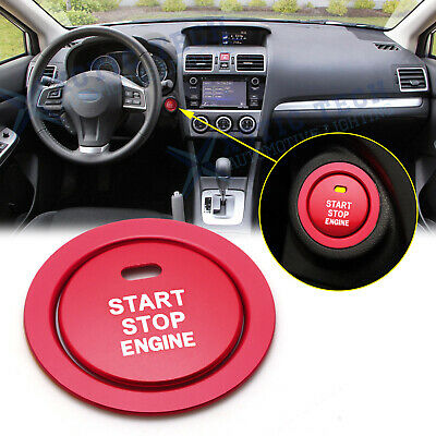 For Toyota 86 2017-2020 Red Aluminum Engine Start Stop Button Cover w/ Ring Trim