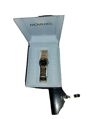MOVADO  VITANGE GOLD LINK womenWatch   Classic  Peite watch I luv it box battery