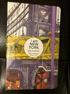 NEW Moleskine Limited Edition Notebook I am New York, Large, RULED, Hard Cover