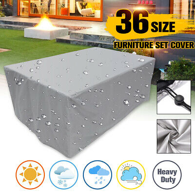 Extra Large Garden Rattan Outdoor Furniture Cover Patio Table Protection Sliver