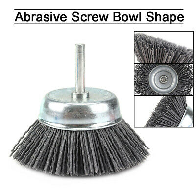 3'' Abrasive Nylon Wire Brush Angle Grinder Wheel For Cleaning Rust Removal 1Pc