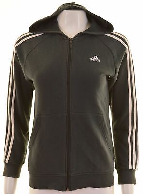 ADIDAS Girls Hoodie Sweater 13-14 Years Blue Cotton  LM15