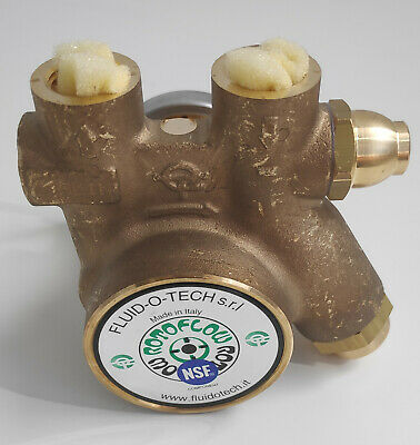 NEW Fluid-O-Tech BRASS ROTARY VANE PUMP WITH CLAMP