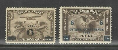 Canada Sc C3 and C4 Air Mails Mint