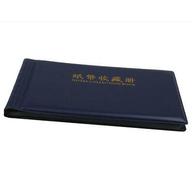 20-Pocket Paper Money Album Collection Banknote Stamp Books Soft Leather Note