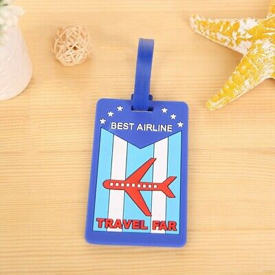 """""""Best Airline Travel Far"""" Luggage, Baggage, Tag, Name, Bag Identifier address"""