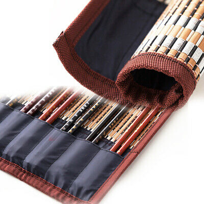 Portable Rolling Bag Pen Case Curtain Writing Without Brush Bamboo Calligraphy