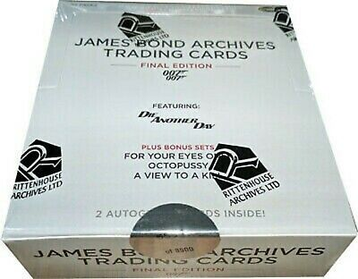 Factory Sealed Box of James Bond Archives Final Edition trading cards