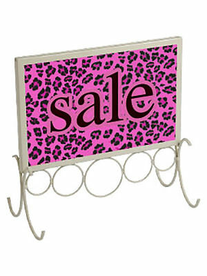 "3 Countertop Sign Holder 11 x 11 ¼""  Fits 7"" x 11"" Signs Ivory Retail Sale Signs"