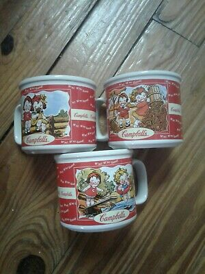 Campbell's Soup/coffee Cups SET OF 3