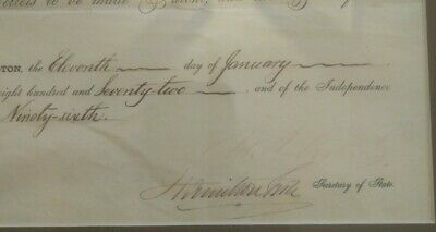 Ulysses S Grant signed Document PSA/DNA authenticated 1872
