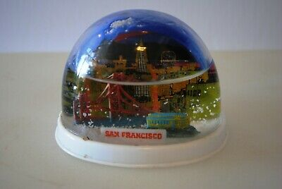 Vtg Snow Dome Globe San Francisco Golden Gate Bridge Souvenir Snowdome Snowglobe